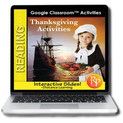 Free Google Slides! Fun THANKSGIVING Activities to improve reading skills