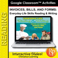 Google Slides: Invoices, Bills and Forms - Everyday-Living Reading & Writing