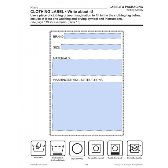 Google Slides: Labels and Packaging - Everyday-Life Reading & Writing Practice