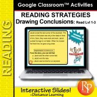 Google Classroom: Reading Strategies Conclusions Task Cards