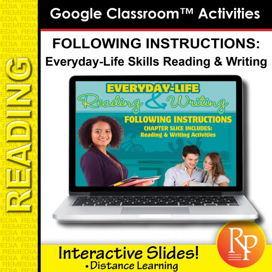 Google Slides: Following Instructions - Everyday-Life Reading & Writing Practice