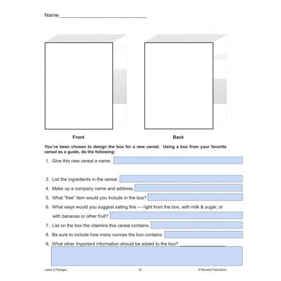 Google Slides: LABELS & PACKAGES: Practical Practice Reading & Life Skills