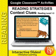 Google Classroom: Reading Strategies Context Clues Task Cards