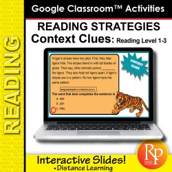 Google Classroom: Context Clues - Reading Strategies | Distance Learning