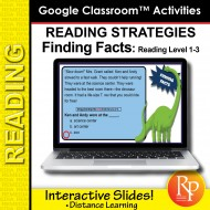 Google Classroom: Reading Strategies Facts Task Cards