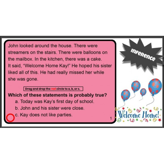 Google Classroom: Reading Strategies Inference Task Cards