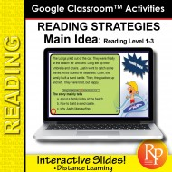 Google Classroom: Reading Strategies Main Idea Task Cards