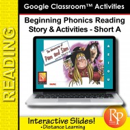 Beginning Phonics Reading - Story & Activities | Google Classroom Slides Short a