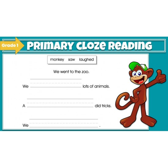 Google Classroom: Primary Cloze Reading Grade 1
