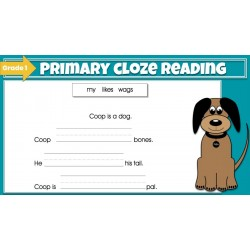 Beginning Cloze Reading Stories & Activities - Grade 1 | GOOGLE SLIDES Cloze Reading Fun