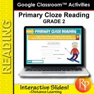 Beginning Cloze Reading Stories & Activities - Grade 2 | GOOGLE SLIDES Cloze Reading Fun