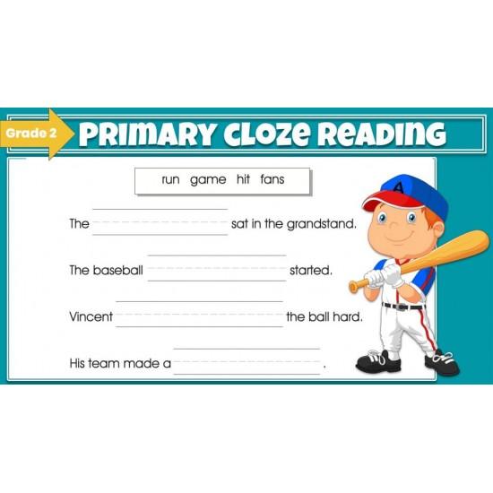 Google Classroom: Primary Cloze Reading Grade 2
