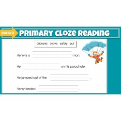 Beginning Cloze Reading Stories & Activities - Grade 2 | GOOGLE SLIDES Cloze Reading Fun