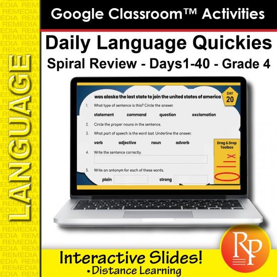 Google Classroom: Language Quickies Grade 4 (1-40)