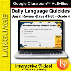 Google Classroom: Daily Language Quickies Grade 4 (41-80)