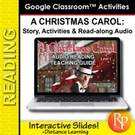 "Google Slides ""A Christmas Carol"" Abridged Story, Activities & Read-along Audio"