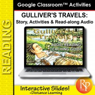"Google Slides ""Gulliver's Travels"" Abridged Story, Activities & Read-along Audio"