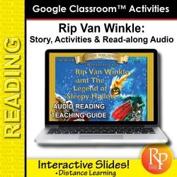 "Google Slides: ""Rip Van Winkle"" Abridged Story, Activities & Read-along Audio"