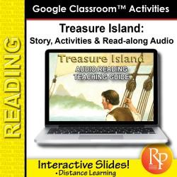 "Google Slides: ""Treasure Island"" Abridged Story, Activities & Read-along Audio"