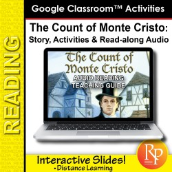 """Google Slides: """"The Count of Monte Cristo"""" Abridged Story, Activities & Read-along Audio"""
