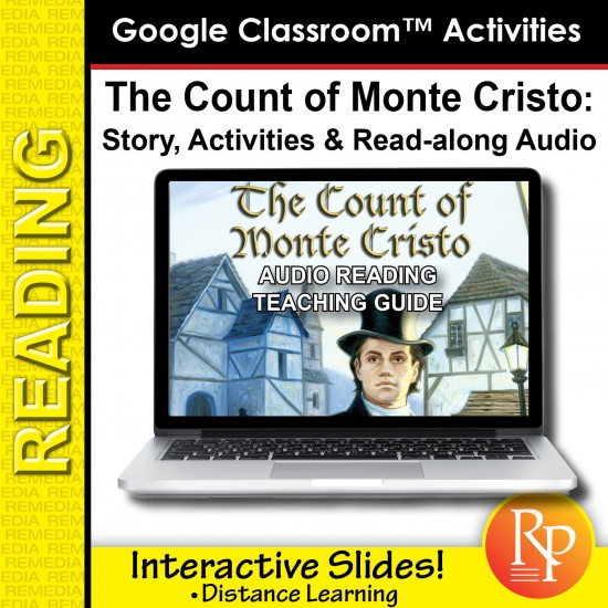 "Google Slides: ""The Count of Monte Cristo"" Abridged Story, Activities & Read-along Audio"