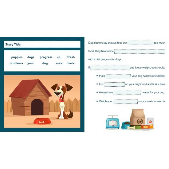Google Classroom™ Activities: Cloze Reading (Rdg Level 3-4) Distance Learning