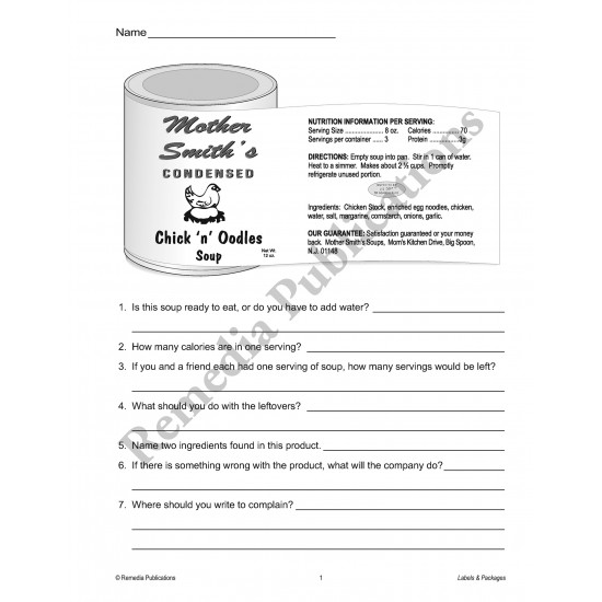 Practical Practice Reading: Labels & Packages (eBook)