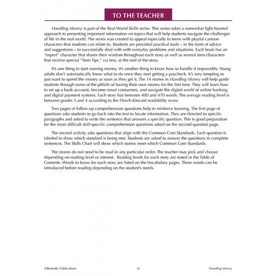 Real-World Skills Series: Handling Money! (Editable Ebook)