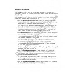 Subtraction: Straight Forward Math Series