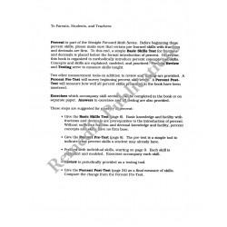 Percents: Straight Forward Math Series (Advanced Edition)