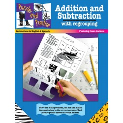 Puzzles & Practice: Addition and Subtraction with Regrouping