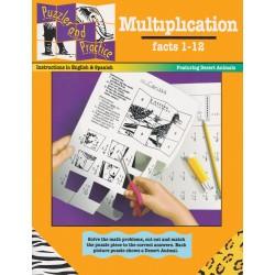 Puzzles & Practice: Multiplication (Factors 1-12)