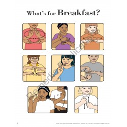 Food Signs: Sign Language Charts