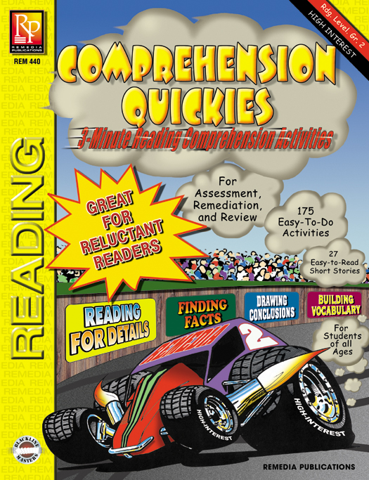 Comprehension Quickies - Leveled, Short Stories for Short Attention Spans by Remedia Publications