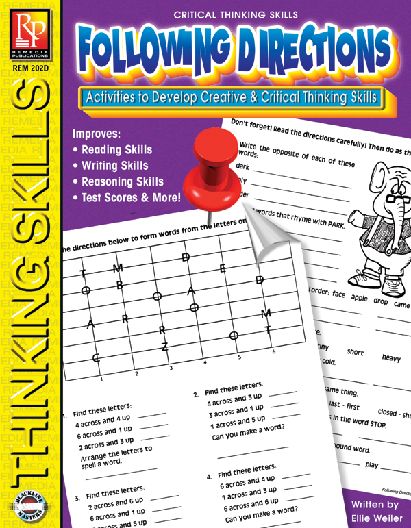 Critical Thinking Series - Following Directions by Remedia Publications