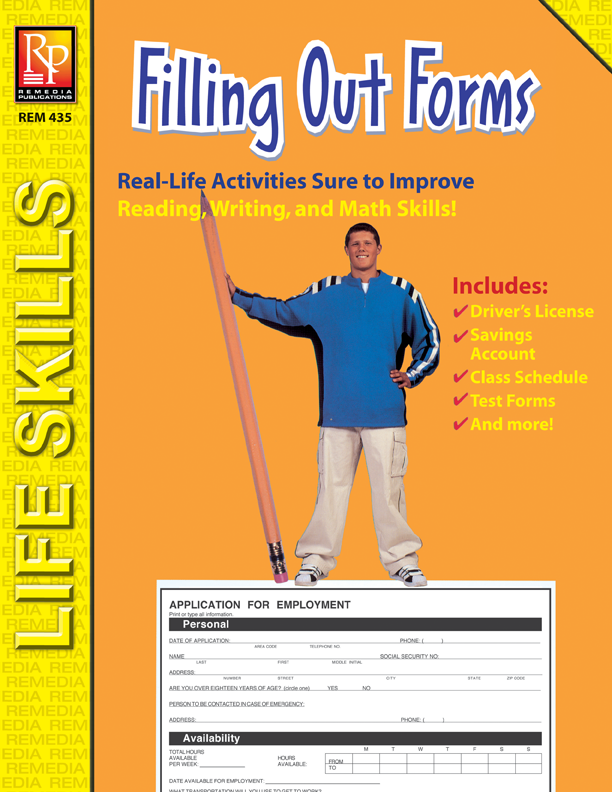 Filling Out Forms - Practical Practice Reading by Remedia Publications